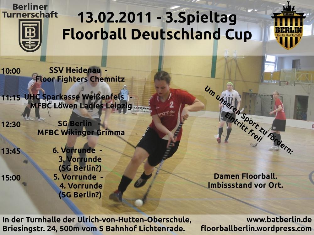 flyer zum 3. spieltag floorball deutschland cup ost