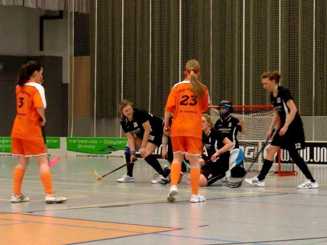 Die Damen der SG in der letzten Saison beim Spiel gegen die Floor Fighters Chemnitz